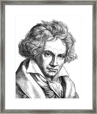 Ludwig Van Beethoven Framed Print by Granger