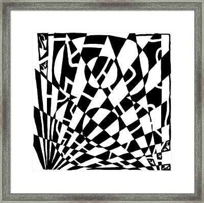 8 Maze Framed Print by Yonatan Frimer Maze Artist