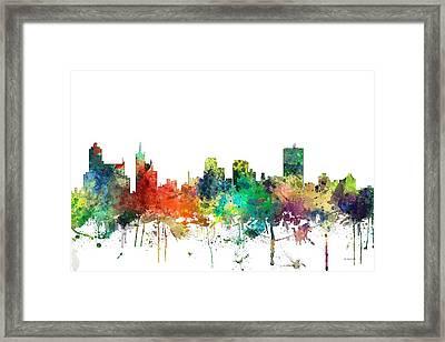 Memphis Tennessee Skyline Framed Print by Marlene Watson