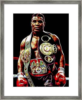 Mike Tyson Collection Framed Print by Marvin Blaine