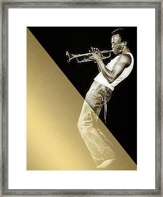 Miles Davis Collection Framed Print by Marvin Blaine