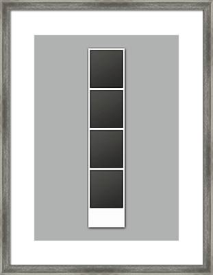 Photo Booth Picture Strip Framed Print by Allan Swart