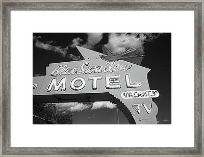 Route 66 - Blue Swallow Motel Framed Print by Frank Romeo
