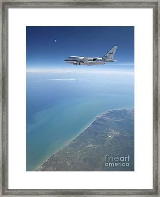 Sofia Airborne Observatory In Flight Framed Print by Detlev van Ravenswaay