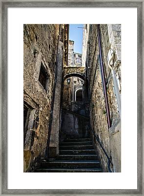 Walking Through The Streets Of Pretoro - Italy  Framed Print by Andrea Mazzocchetti