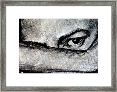 Anger Closed In Framed Print by Georgia Doyle  brushhandle