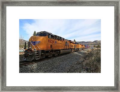 8234 Westbound Framed Print by Donna Kennedy