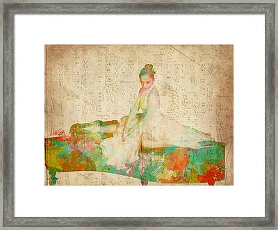 88 Keys To Her Heart Framed Print by Nikki Smith
