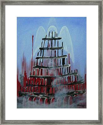 9-11 Framed Print by Jorge Parellada