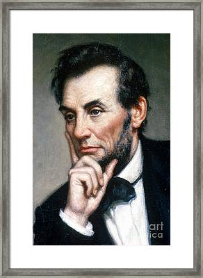 Abraham Lincoln 16th American President Framed Print by Photo Researchers