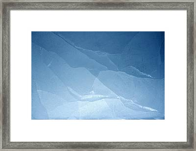 Blue Ice Framed Print by Les Cunliffe