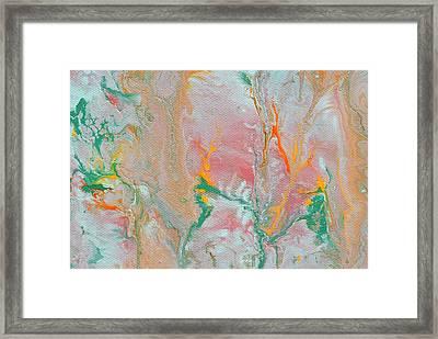 Fluid Acrylic Paint Framed Print by Sumit Mehndiratta