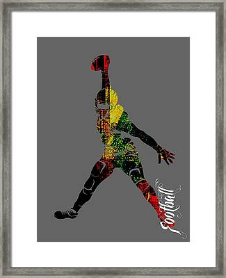 Football Collection Framed Print by Marvin Blaine