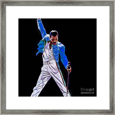 Freddie Mercury Queen Collection Framed Print by Marvin Blaine