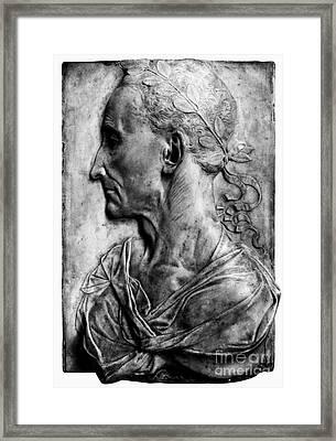 Julius Caesar (100-44 B.c.) Framed Print by Granger