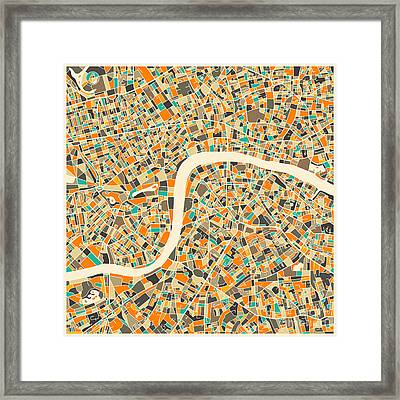 London Map Framed Print by Jazzberry Blue