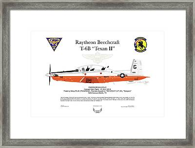 Raytheon Beechcraft T-6b Texan II Framed Print by Arthur Eggers