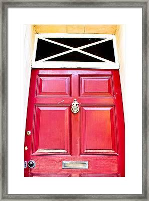 Red Door Framed Print by Tom Gowanlock