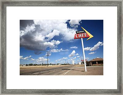 Route 66 Cafe Framed Print by Frank Romeo