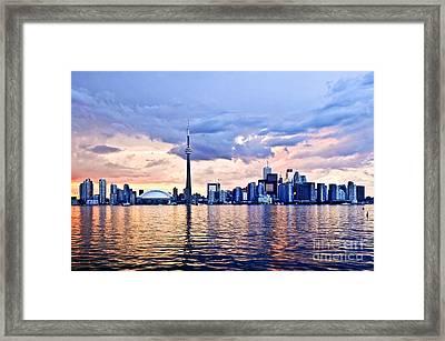 Toronto Skyline Framed Print by Elena Elisseeva