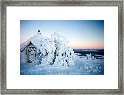 Winter In Lapland Finland Framed Print by Kati Molin