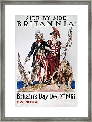 World War I: U.s. Poster Framed Print by Granger