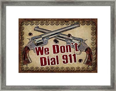 911 Framed Print by JQ Licensing