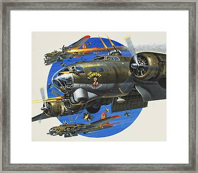91st Usaaf Bombardment Group Framed Print by Wilf Hardy