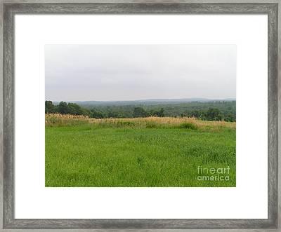 #940 D1098 Farmer Browns West Newbury Framed Print by Robin Lee Mccarthy Photography