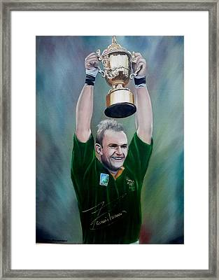 95 Rugby Worldcup Framed Print by Johan BEUKES