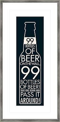 99 Bottles Of Beer  Framed Print by Geoff Strehlow