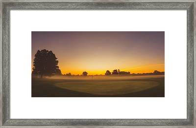 9th Hole Framed Print by Chris Bordeleau
