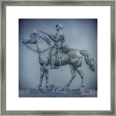 9th New York Cavalry Monument Gettysburg Framed Print by Randy Steele