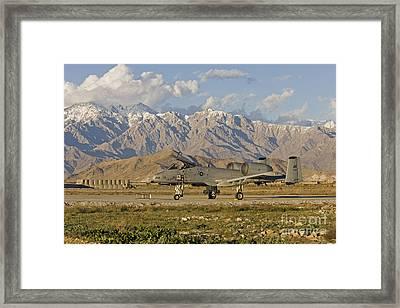 A-10 Warthog At Bagram Framed Print by Tim Grams