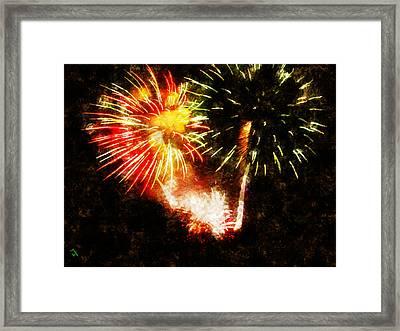 A 4th Celebration  Framed Print by Adam Vance