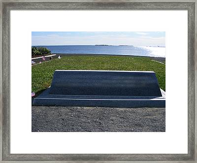 A 911 Memorial In Ct Framed Print by Margie Avellino
