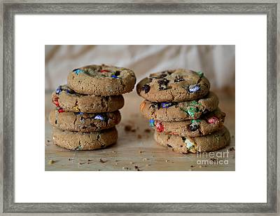 A Balanced Diet Is A Cookie In Each Hand Framed Print by Tracy Hall