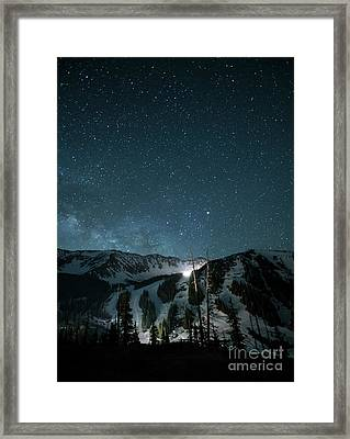 A-basin At Night Framed Print by Juli Scalzi