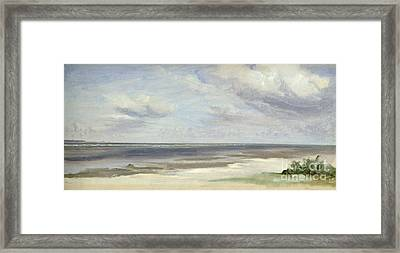 A Beach On The Baltic Sea At Laboe Framed Print by Jacob Gensler