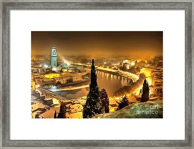 A Beautiful Blonde In Thick Paint Framed Print by Catherine Lott