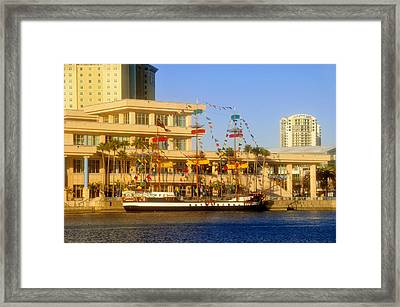 A Beautiful Day In Tampa Bay Framed Print by David Lee Thompson