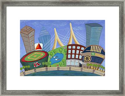 A Bit O' Boston Framed Print by Melissa Fassel Dunn
