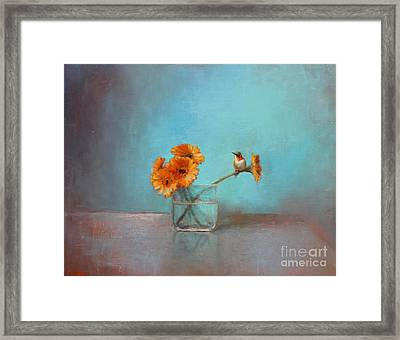 A Bit Of Summer Framed Print by Lori  McNee
