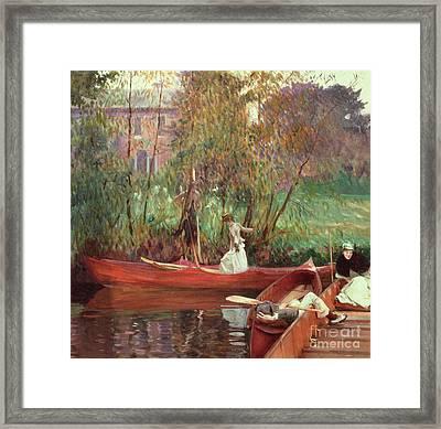 A Boating Party  Framed Print by John Singer Sargent
