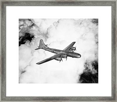 A Boeing B-29 Superfortress, Circa 1944 Framed Print by Everett