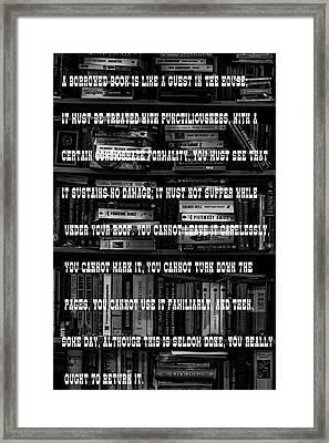 A Borrowed Book . . .   1933 Framed Print by Daniel Hagerman