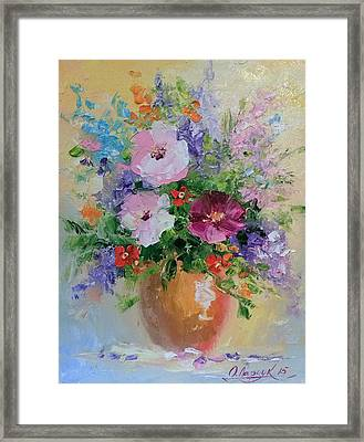 A Bouquet Of Flowers Framed Print by Olha Darchuk