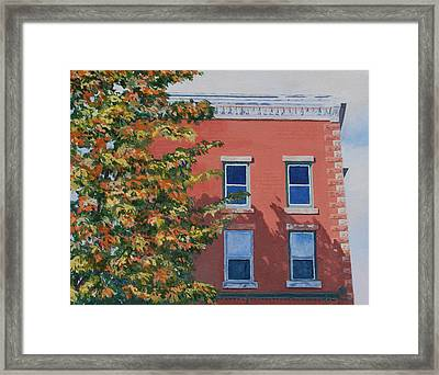 A Brick In Time Framed Print by Lynne Reichhart