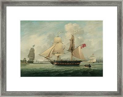A Brig Entering Liverpool Framed Print by John Jenkinson