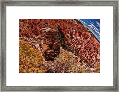 A Bryce Point Rock Framed Print by Blake Richards